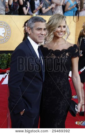 LOS ANGELES, CA - JAN 29: George Clooney at the 18th annual Screen Actor Guild Awards at the Shrine Auditorium on January 29, 2012 in Los Angeles, California