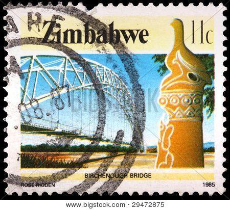 ein 11 Cent Briefmarke gedruckt in Simbabwe