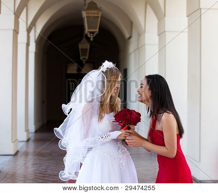 Bride And Her Maid Of Honor