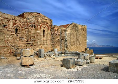 Greece Rhodes Lindos Acropolis
