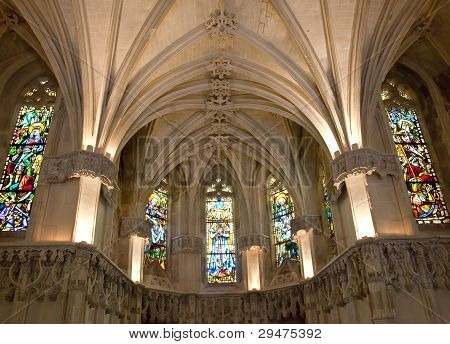 Amboise castle. Chapel where Leonardo da Vinci is buried.Valley of the river Loire. France