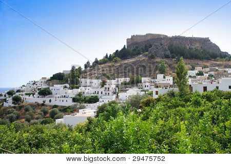 Lindos. Rhodes island Greece.
