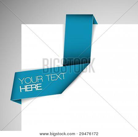 Vector cinta de origami de papel azul / agregar a favoritos