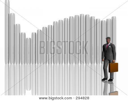 Businessman Illustration Over White.