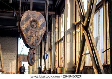 Metal Lifting Hook On The