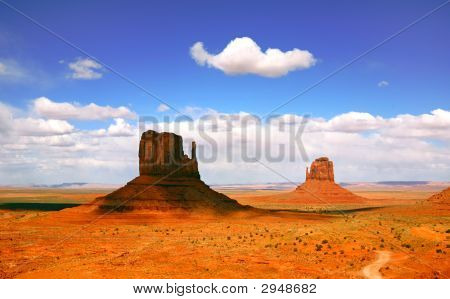 Beautiful Landscape Of  Monument Valley Arizona