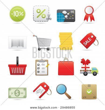 Shopping Icons Set