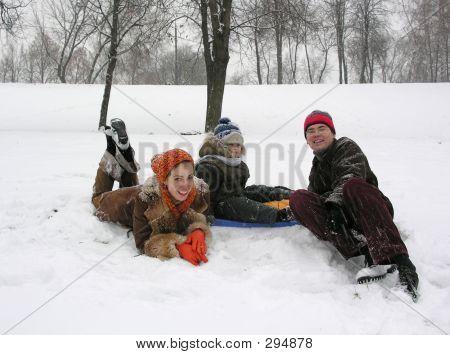 Família. Inverno.