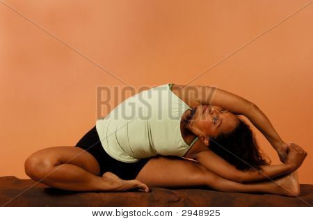 Yoga Pose Seated Side Bend