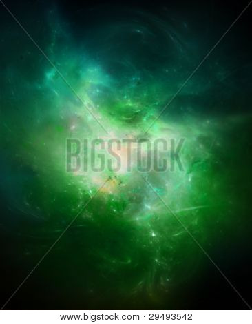Green Fire Nebula