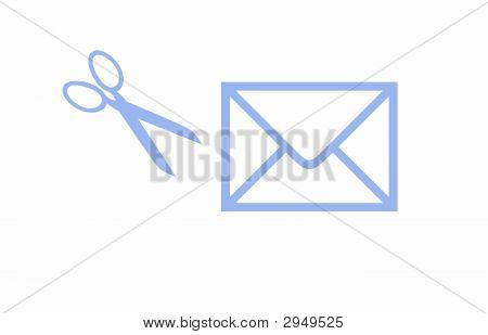 Envelope And Scissors