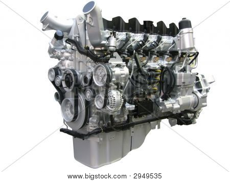 Truck Engine Isolated