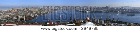 Vladivostok, Panarama Of Golden Horn Bay