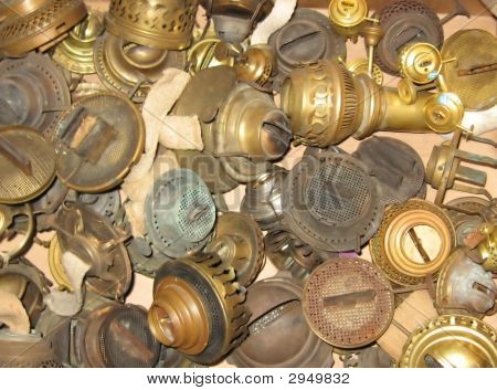 Antique Lamp Parts