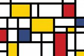 colorful rectangles; mondrian style poster