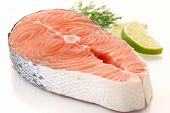 picture of salmon steak  - Salmon Steak - JPG