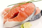 image of salmon steak  - Salmon Steak - JPG