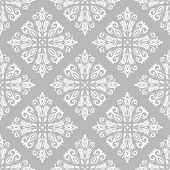 Classic Seamless Light Pattern. Damask Orient Ornament. Classic Vintage Background poster