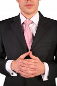 Young Businessman With Folded Hands