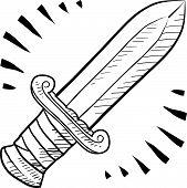 Постер, плакат: Древний меч эскиз