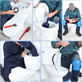 stock photo of plunger  - Construction - JPG