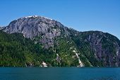 stock photo of punchbowl  - The forests and cliffs of Misty Fjords National Monument Wilderness near Ketchikan Alaska  - JPG