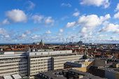 Beautiful View Of The Copenhagen From Top On Round Tower poster