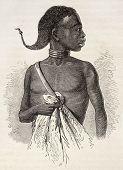Постер, плакат: Носорог голова старого иллюстрации Неопознанные автором Опубликовано Le Tour du Monde Париж 1867