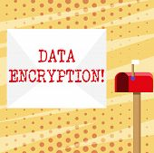 Conceptual Hand Writing Showing Data Encryption. Business Photo Showcasing Another Form Code That On poster