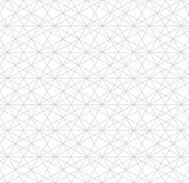 Silver Linear Pattern. Vector Geometric Seamless Texture. Subtle Gray Metallic Lines On White Backgr poster