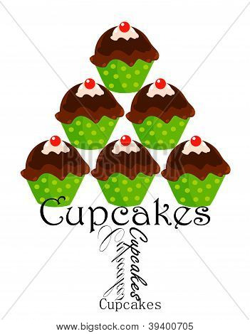 Cupcakes plate