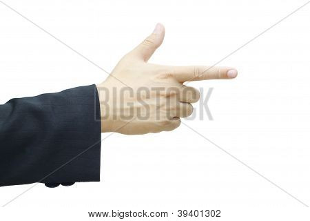 Business Man's Hand Pointing