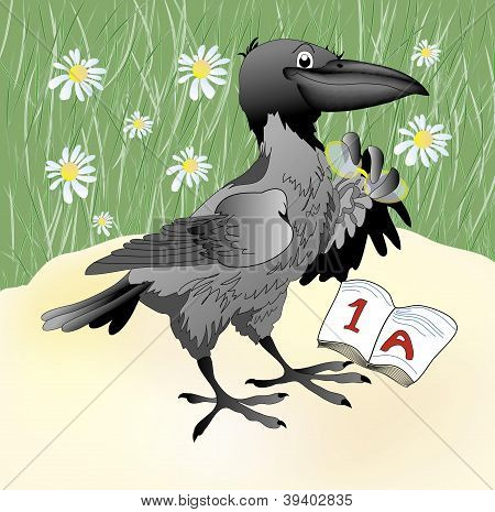 vector crow