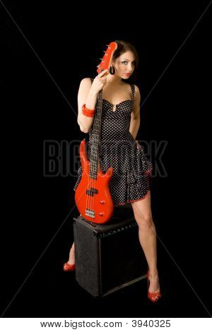 Woman With Bass