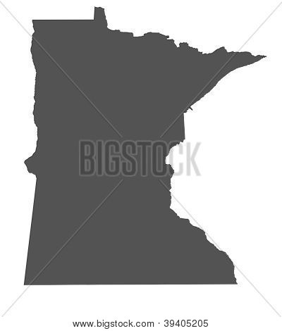 Map of Minnesota - USA - nonshaded