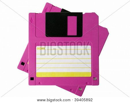 Computer floppy disk isolated on white background
