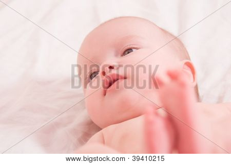 Close-up Portrait Of A Baby