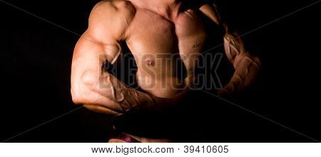 Close-up Build Muscle Bodybuilder