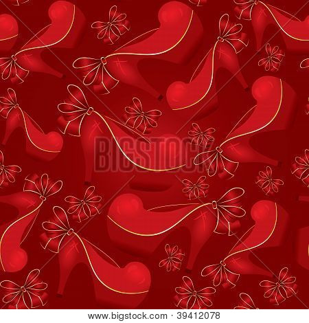 Red Shoe Seamless Vector