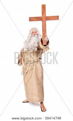 Preacher with crucifix