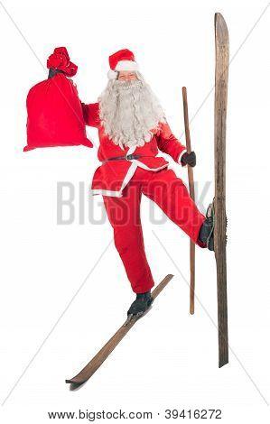 Santa Claus with bag