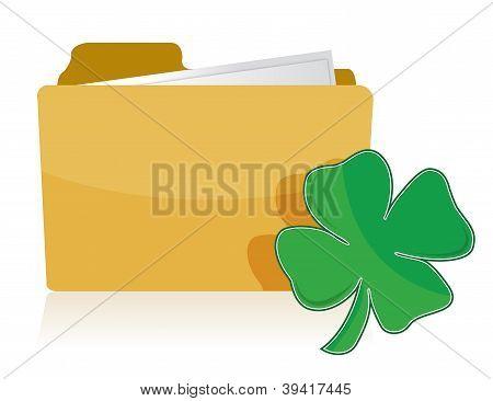 Folder And Clover