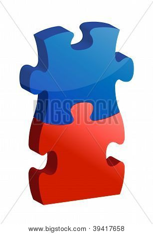 Working Together Puzzle Concept