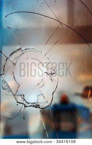 Broken Glass Outdoors