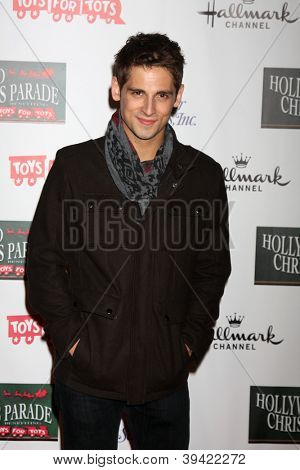 LOS ANGELES - NOV 25:  Jean-Luc Bilodeau arrives at the 2012 Hollywood Christmas Parade at Hollywood & Highland on November 25, 2012 in Los Angeles, CA