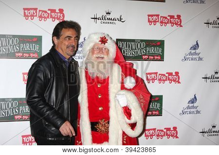LOS ANGELES - NOV 25:  Joe Mantegna, Santa Claus arrives at the 2012 Hollywood Christmas Parade at Hollywood & Highland on November 25, 2012 in Los Angeles, CA