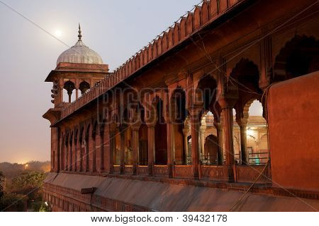 Architectural detail of Jama Masjid Mosque, Old Delhi, India.