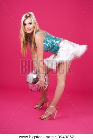 Party Dancer With Disco Ball