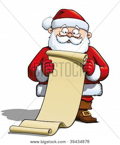 Santa With Gift List.eps