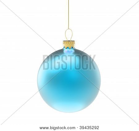 blue christmas ornament or bauble